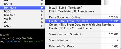 Create HTML From Document