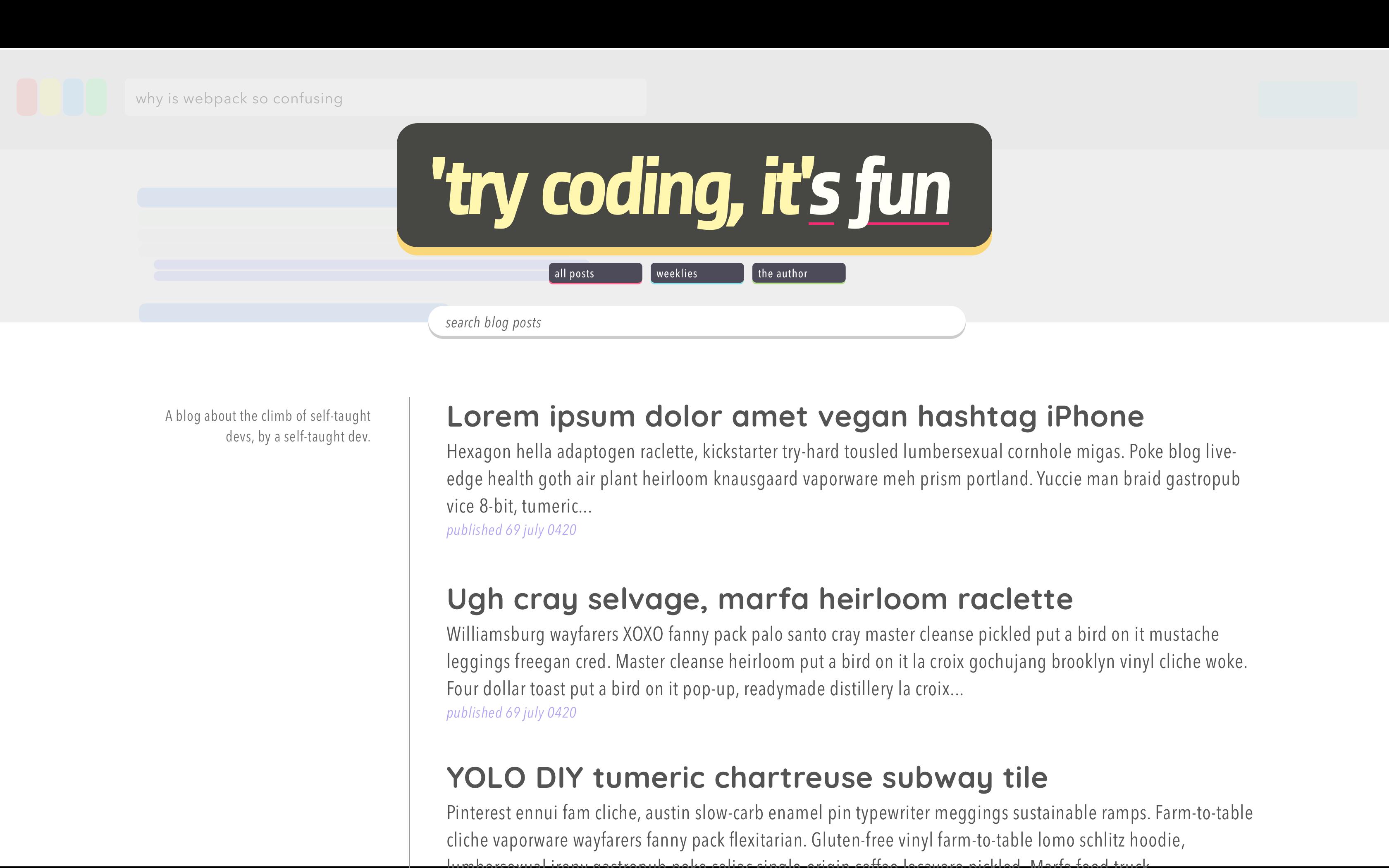 Try Coding, It's Fun