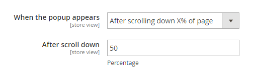 after scroll down