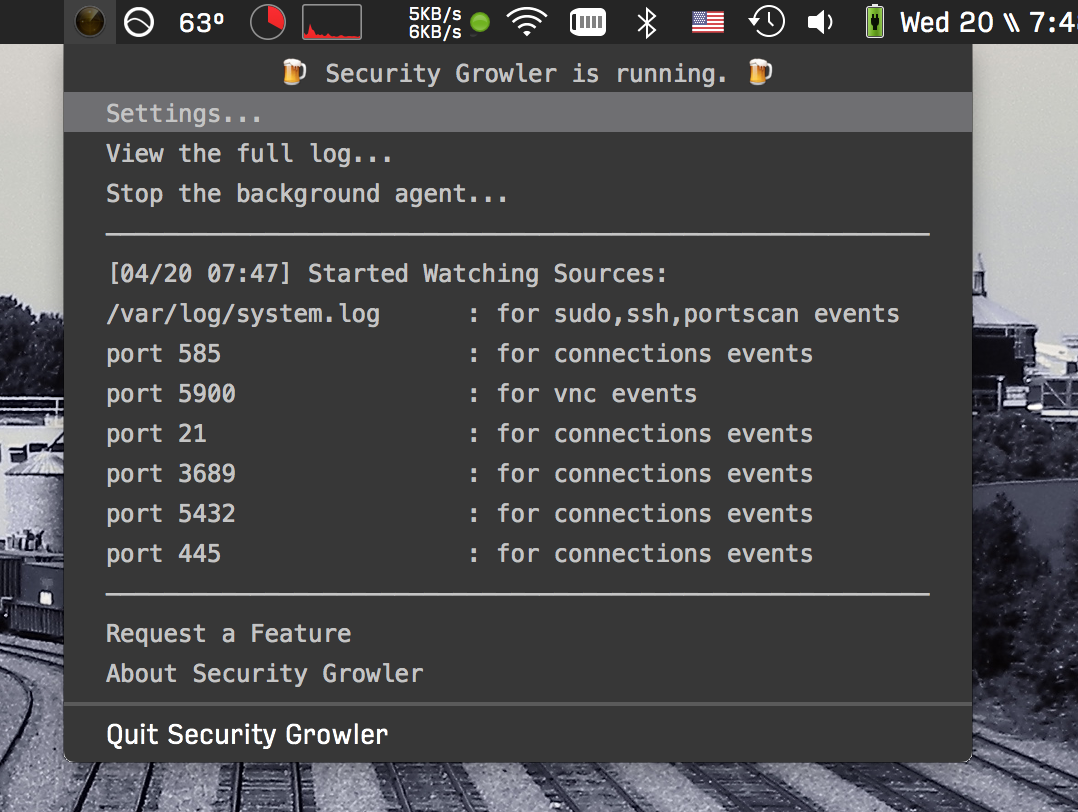GitHub - pirate/security-growler: A Mac menubar app that