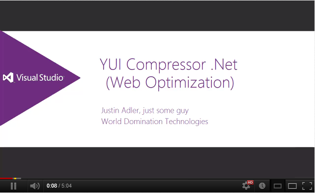 Using YUI Compressor .NET (Web Optimization))