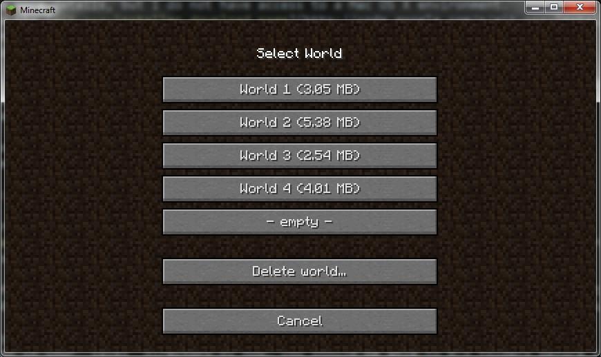 My minecraft saves
