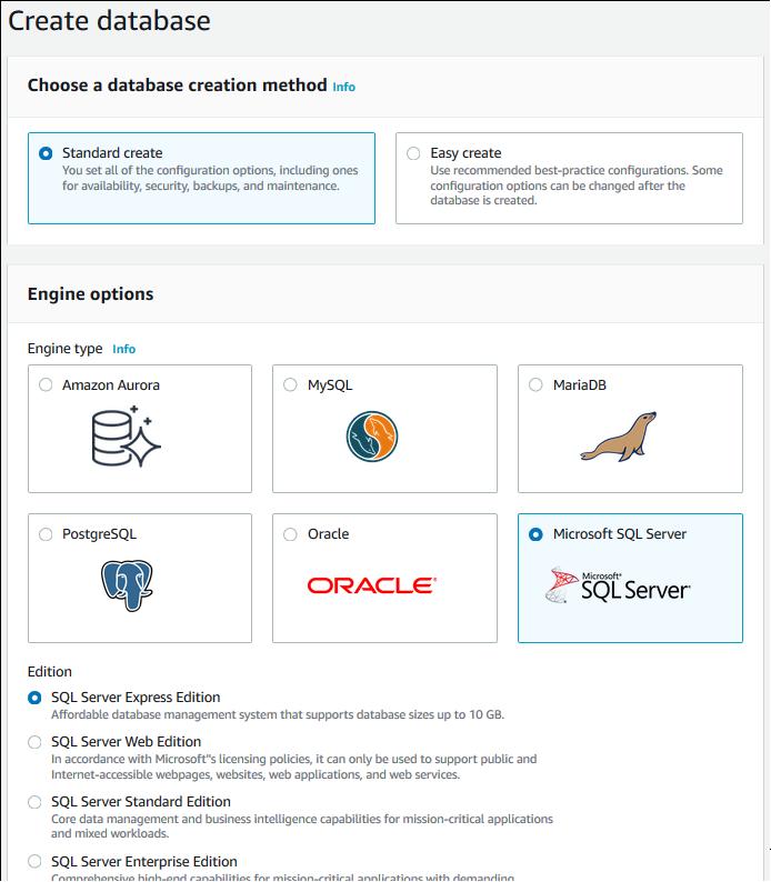 amazon-rds-user-guide/USER_CreateMicrosoftSQLServerInstance