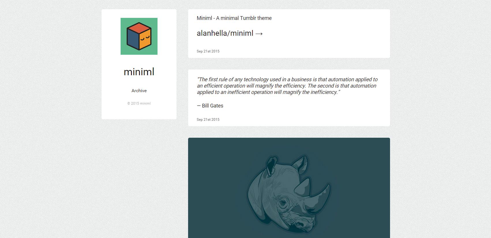 GitHub - alanhella/miniml: A minimal Tumblr theme