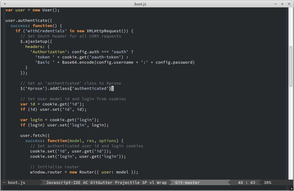 Flatland Emacs Screenshot