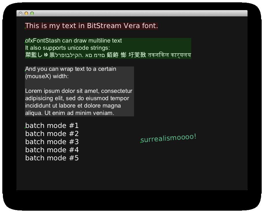 ofxFontStash screenshot