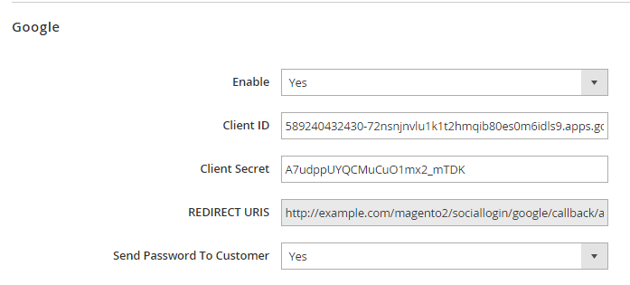 Magento 2 social login with google sign-in button