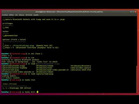 HomePwn. BLE capture on PCAP file (sniffing)