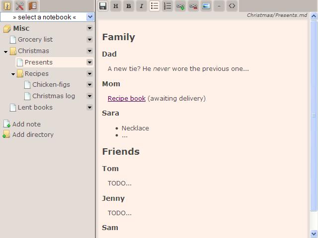 Jotter screenshot