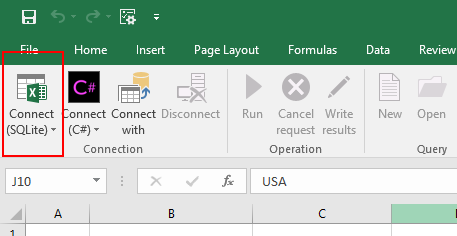Connect to workbook