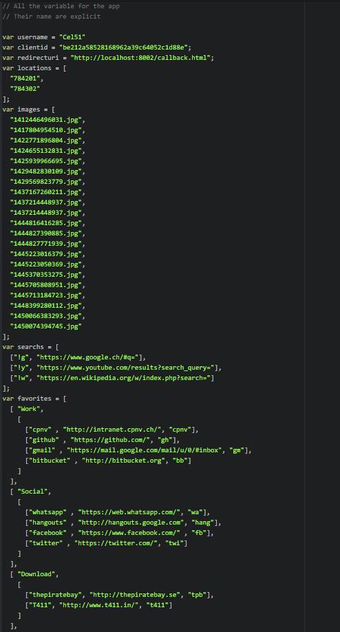 Edit parameters