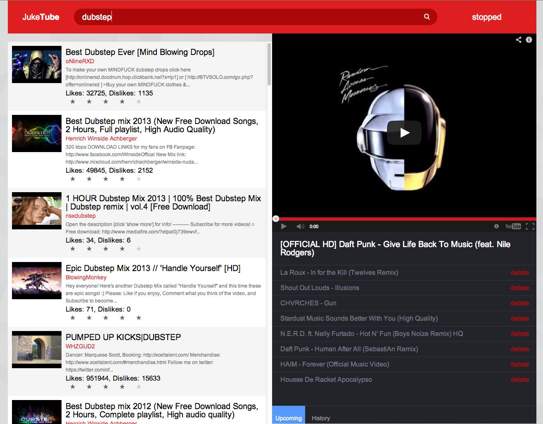 GitHub - addyosmani/yt-jukebox: A YouTube Jukebox element