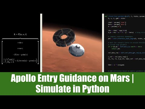 How the Apollo Entry Guidance Algorithm Landed MSL on Mars - Simulated in Python