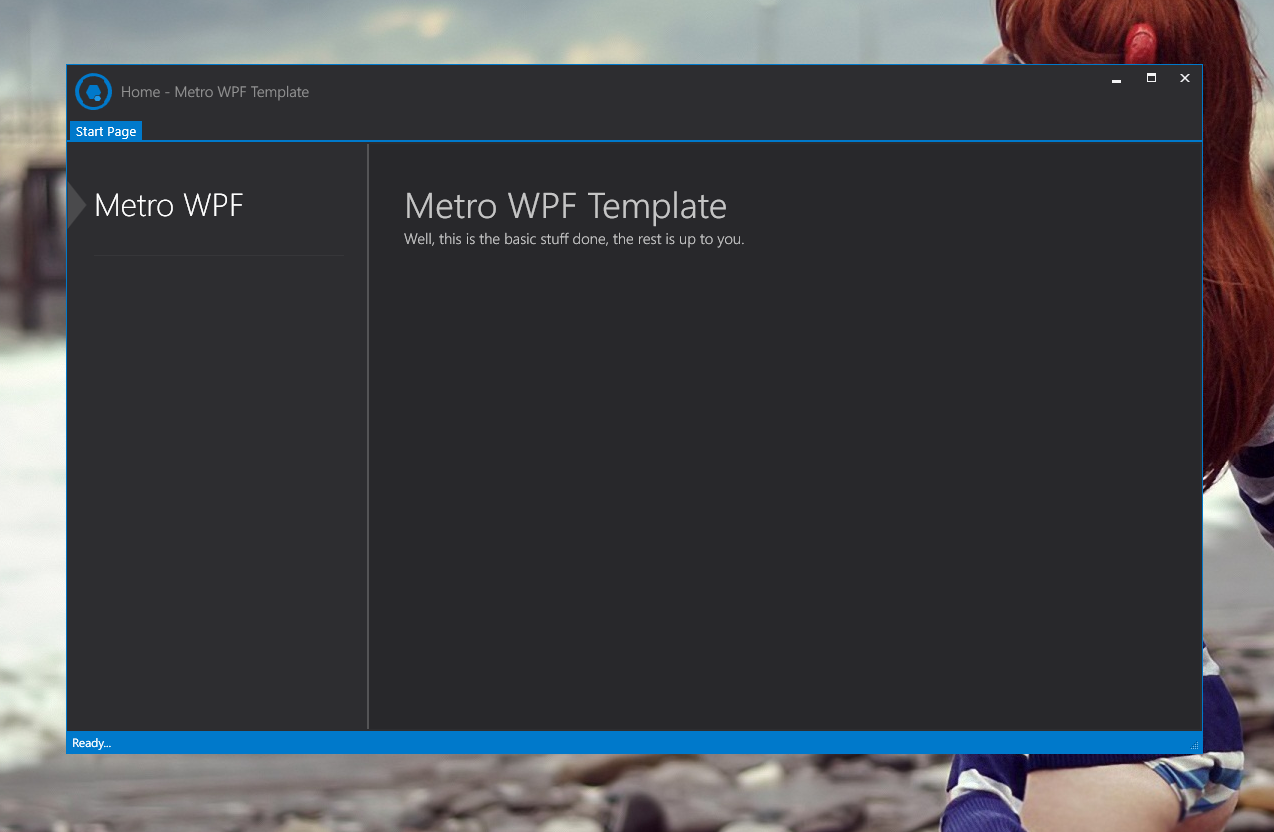 GitHub - 0xdeafcafe/MetroWPFTemplate: A WPF Template for Quickly ...