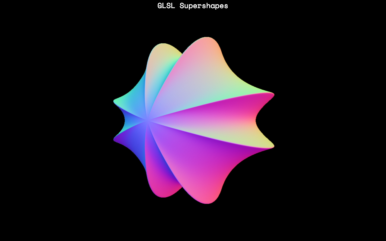 Screenshot from GLSL Supershapes by Softwave