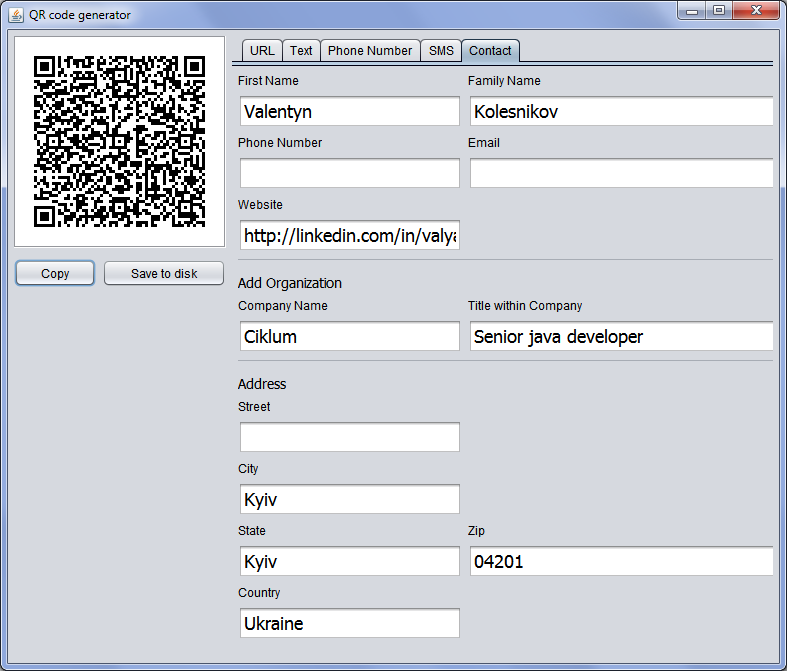 Github javadevqrcode generator the javaswing application to screen short stopboris