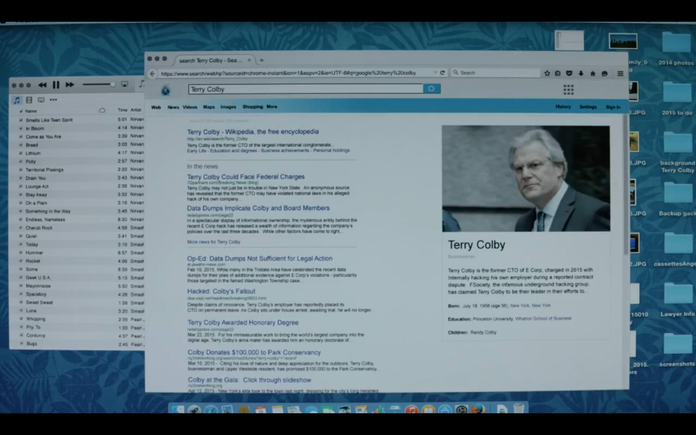 Angela procura notícias sobre Terry Colby,: robot: screenshot 📷