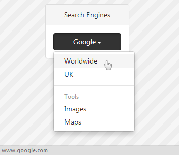 Search Engines example