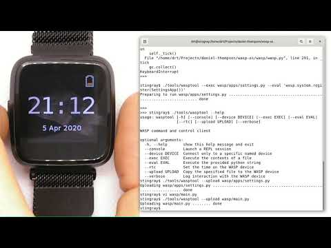 How to develop wasp-os python applications on a Pine64 PineTime