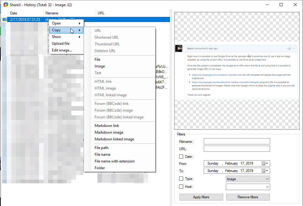Feature Suggestion] Use Google Drive as Image uploader · Issue #3948
