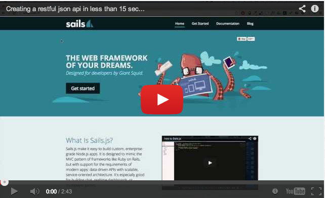 Creating a REST API with Sails.js