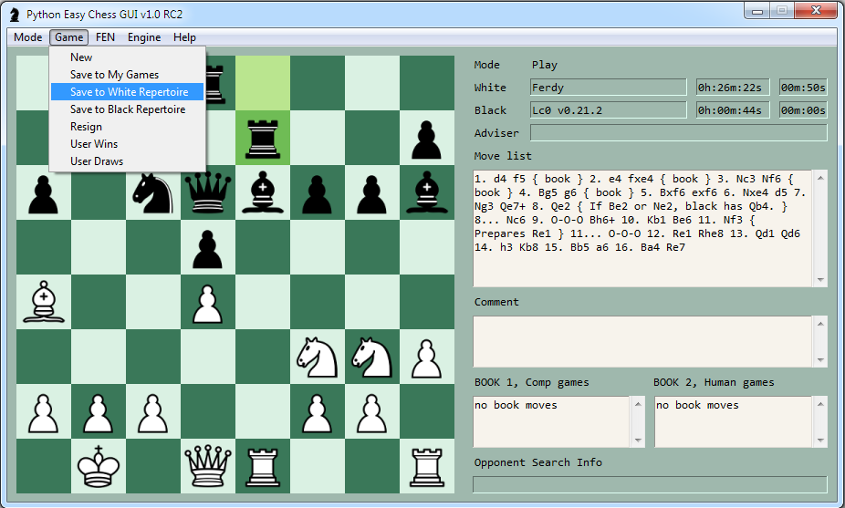 GitHub - fsmosca/Python-Easy-Chess-GUI: A Chess GUI based