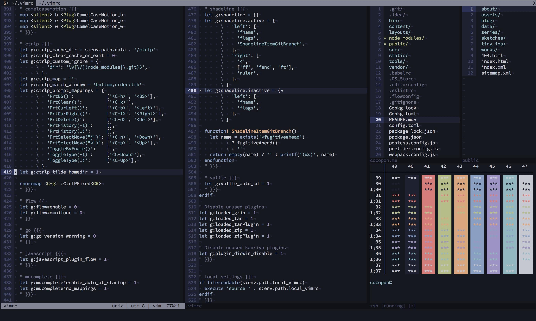 GitHub - cocopon/iceberg vim: Dark blue color scheme for Vim