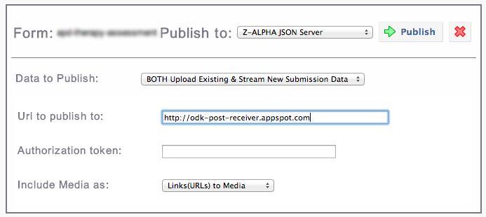 Screenshot of Z-Alpha JSON Publisher