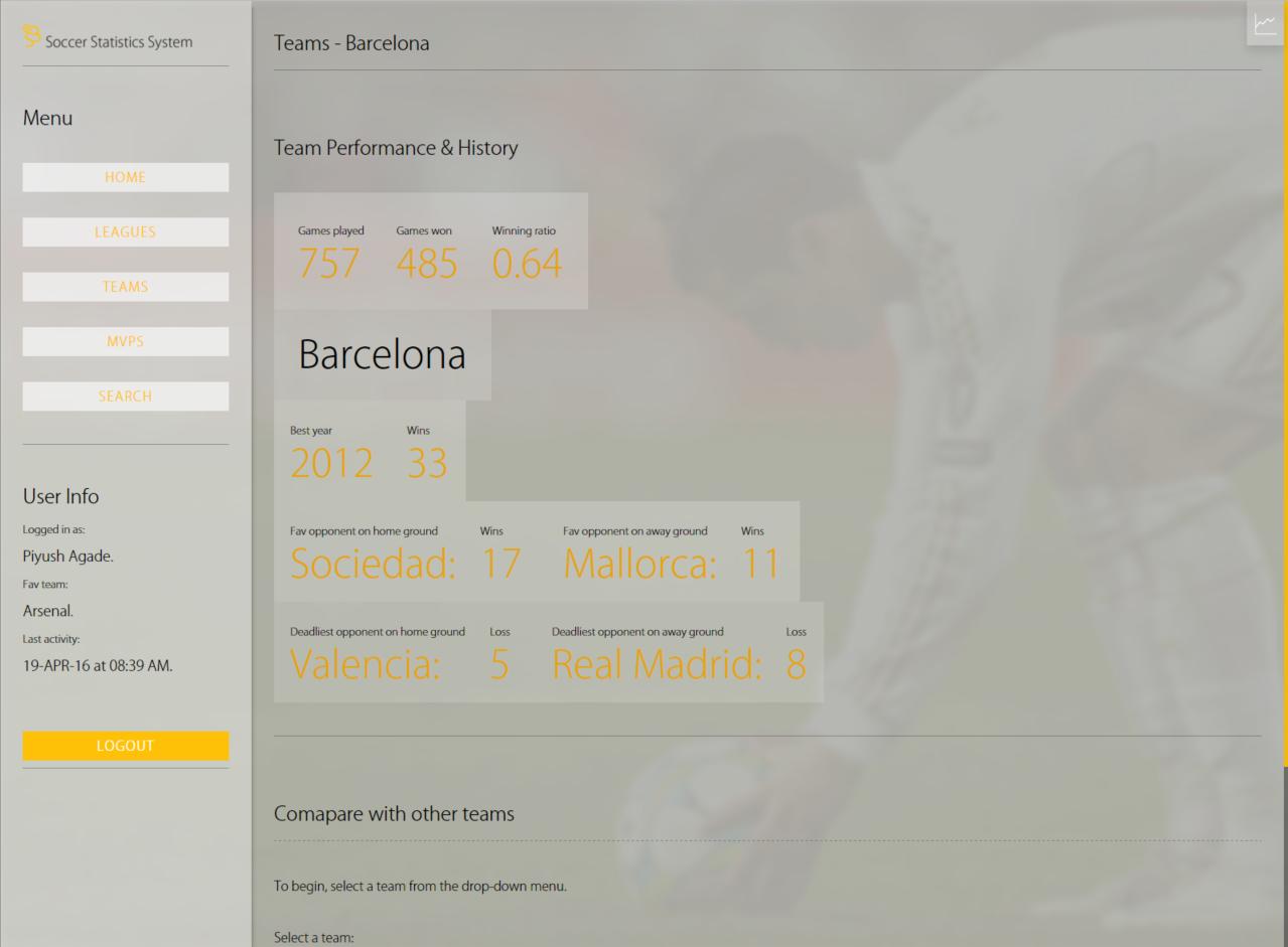 Teams Page