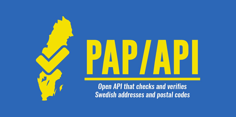 PAP-API - Open API that checks and verifies Swedish addresses and postal codes