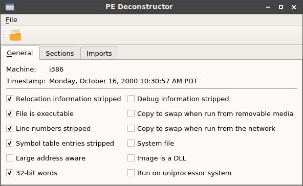 GitHub - nathan-osman/pedeconstructor: Viewer for Win32 PE files
