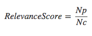 Relevance Score Equation