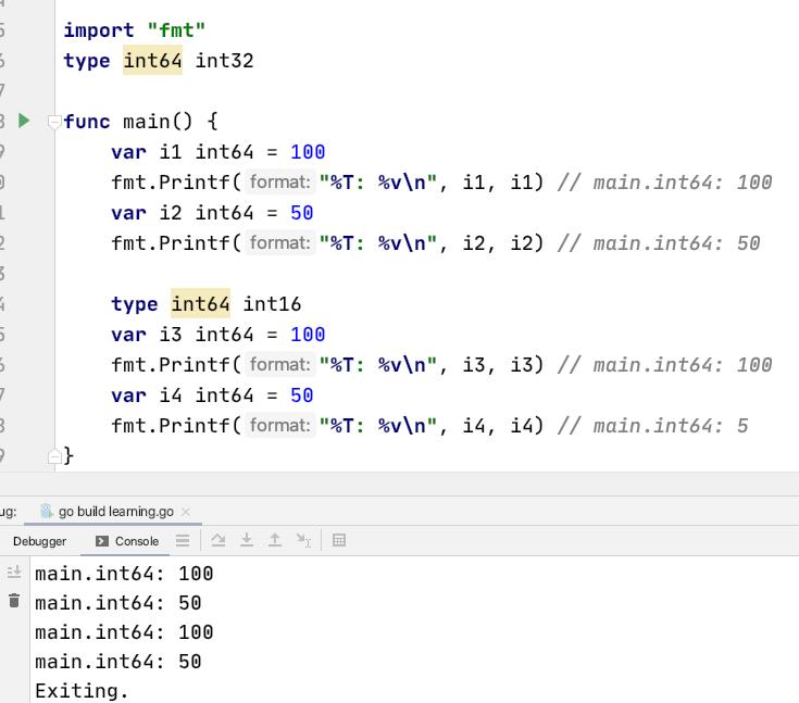Type declaration shadowing