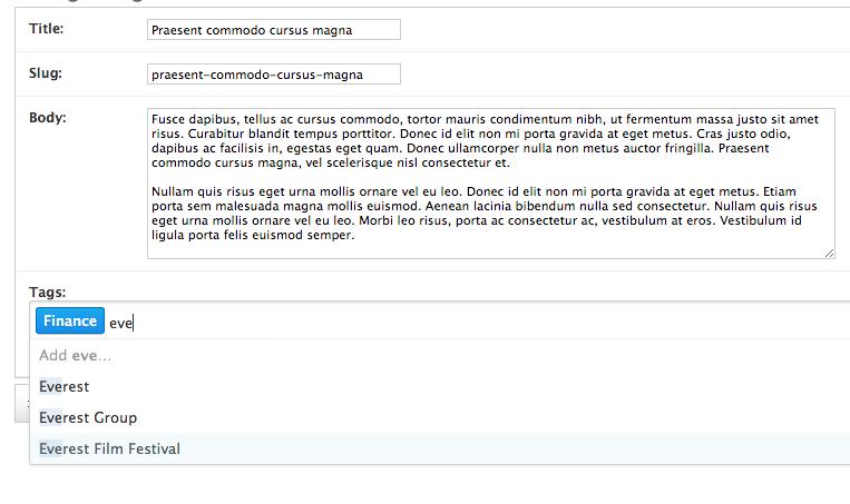 taggit-selectize demo screenshot