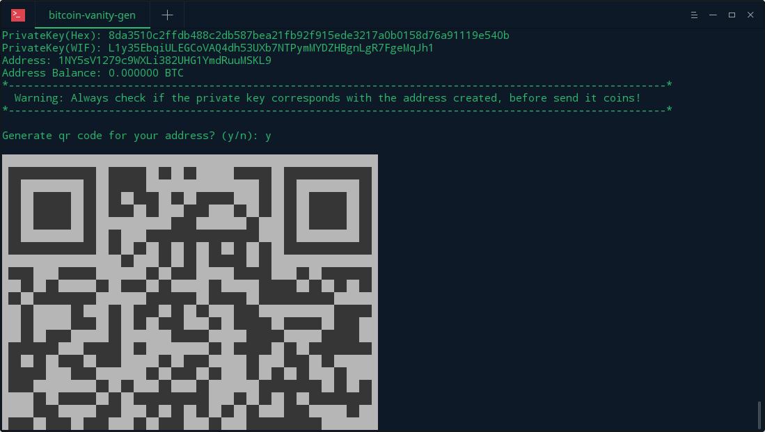 bitcoin vanitygen