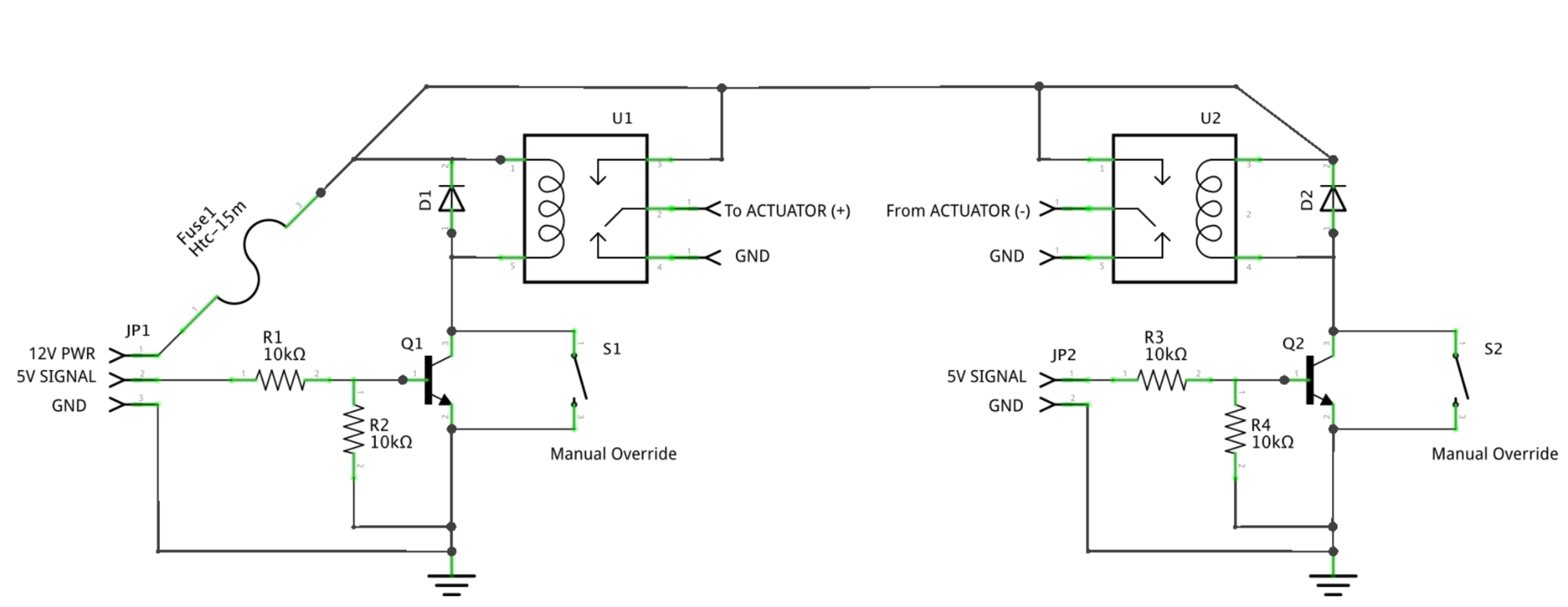 12 Volt Linear Actuator Wiring Diagram