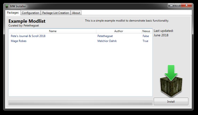 GitHub - Petethegoat/MWInstaller: Packing/installation for