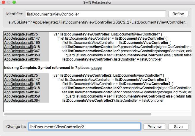 GitHub - antmd/Swifactor: SourceKit based Plugin for Xcode