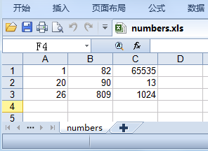 numbers.xls