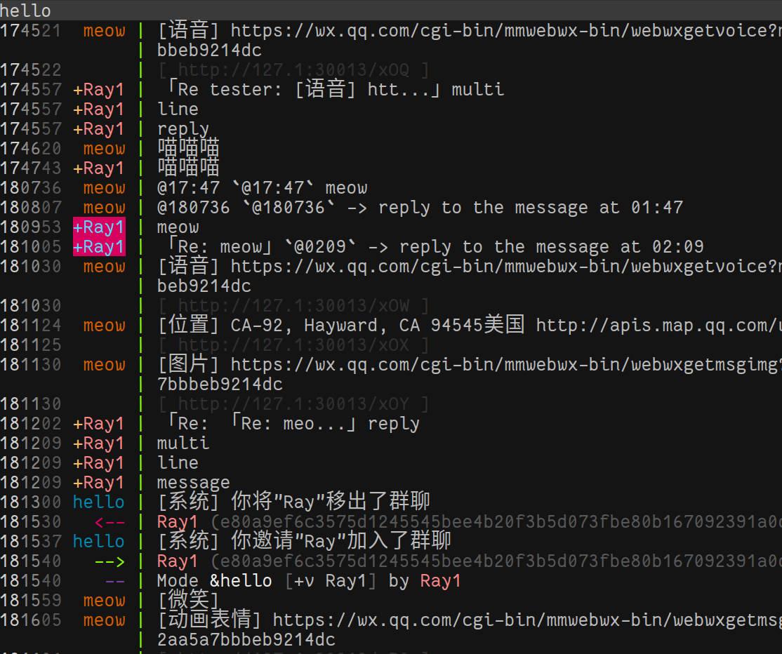 GitHub - MaskRay/wechatircd: ㊙用IRC客户端控制微信网页版