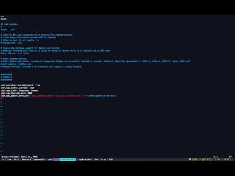 Demo Running Ceph in Docker containers with Ansible