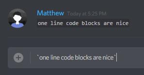 one line code blocks