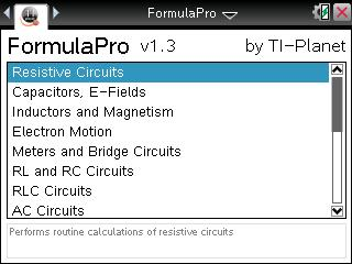Home Screen of FormulaPro