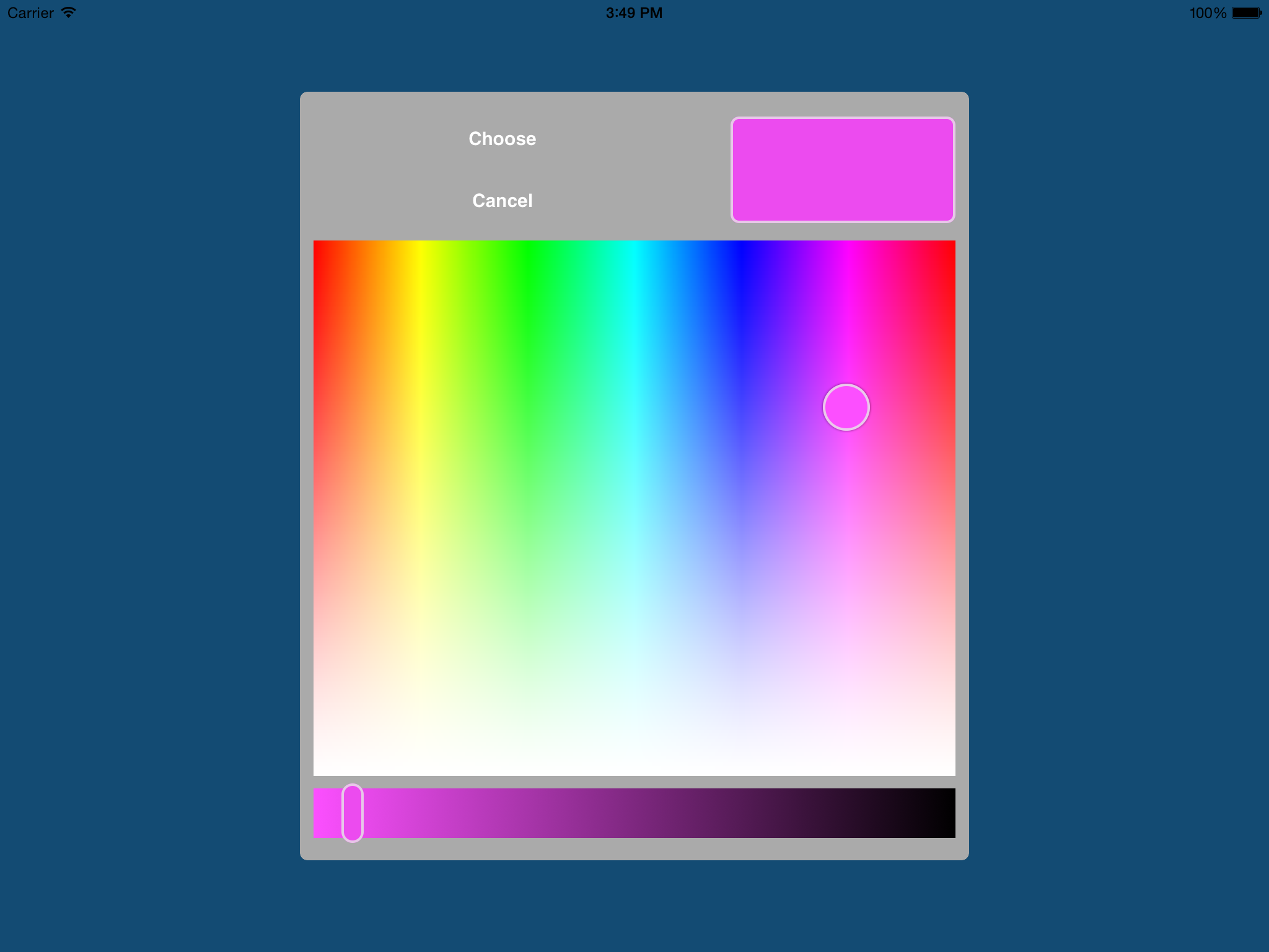 GitHub - fcanas/ios-color-picker: A color picker for iOS