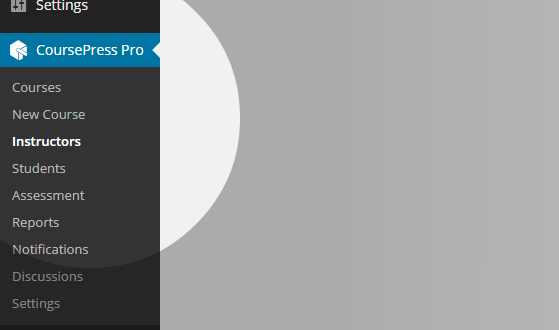 CoursePress - Instructors menu