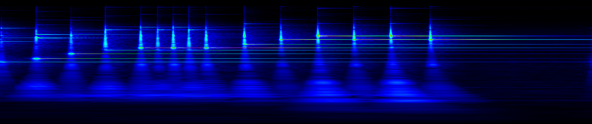 Glockenspiel spectrogram, sone scaled