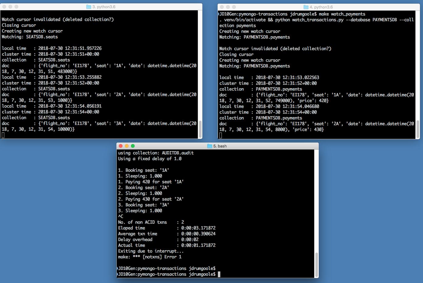 GitHub - jdrumgoole/pymongo-transactions: Python demo code