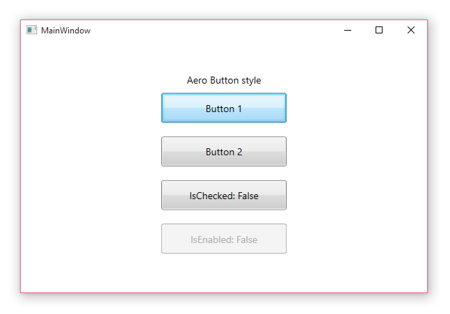 WPF application window