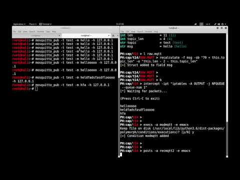 Modyfing MQTT network packets in real time