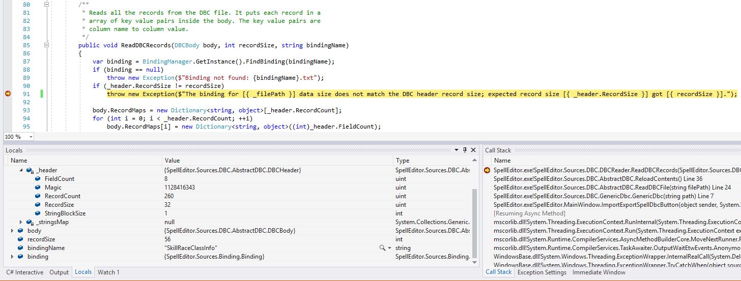 Spell Editor error on SkillRaceClassInfo